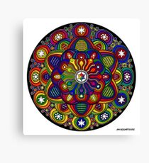 Mandala 42 Rainbow Prints, Cards & Posters Canvas Print