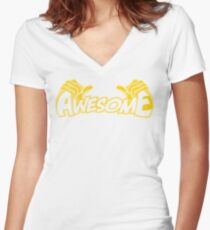 I'm Awesome Women's Fitted V-Neck T-Shirt