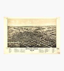 Panoramic Maps Bowling Green Ohio 1888 Photographic Print