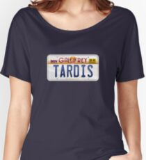 TARDIS License Plate Women's Relaxed Fit T-Shirt