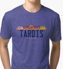 TARDIS License Plate 2 Tri-blend T-Shirt