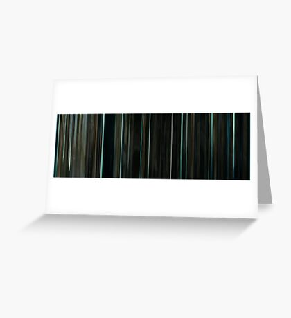 Moviebarcode: Sequence from Harry Potter and the Deathly Hallows: Part 2 (2011) Greeting Card