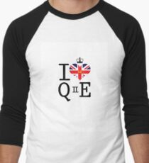 I heart Queen Elizabeth  Men's Baseball ¾ T-Shirt