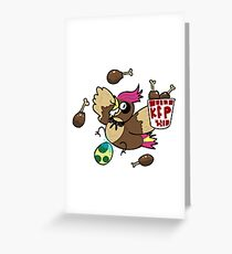 Kanto Fried Pidgeotto! Greeting Card
