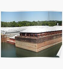 Down Town Chattanooga Barge Poster