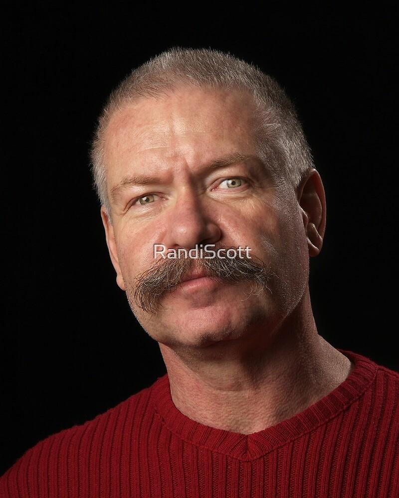 Man with Bushy Moustache  by RandiScott