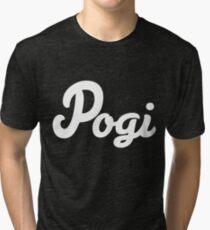 White Pogi Tri-blend T-Shirt