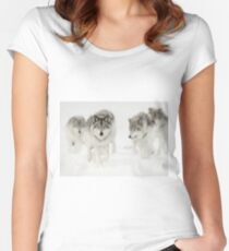 Timber Wolf Pack Women's Fitted Scoop T-Shirt