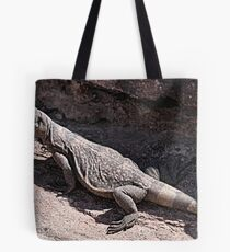 """This is really my Best Side"" - Las Vegas Chuckwalla Lizard Tote Bag"