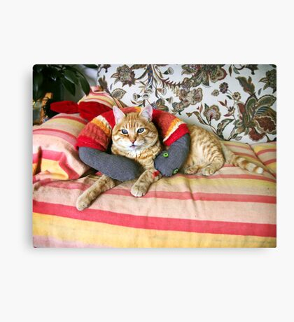 Who said snakes can't be good friends? Canvas Print