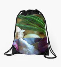 Onions in the Bag Drawstring Bag