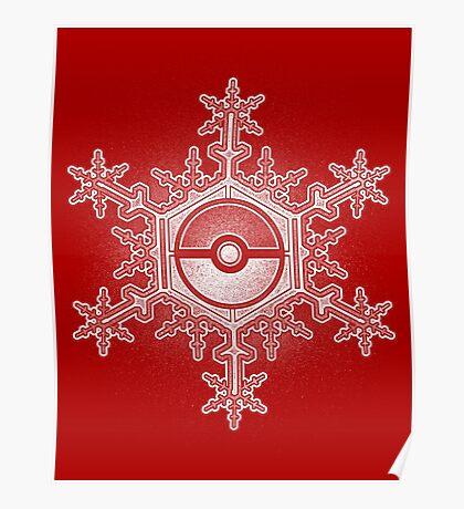 Pokeball Snowflake Poster