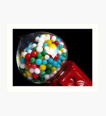 Miniature Bubble Gum Machine Art Print