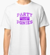 Party Ponies - Purple Classic T-Shirt