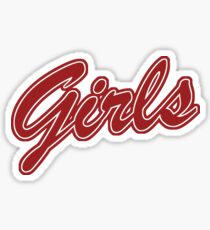 Girls (Red) Sticker