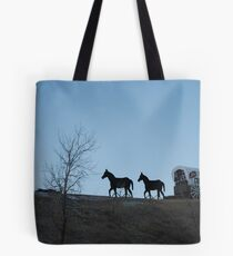 Dances with Wolves  Chuckwagon Tote Bag
