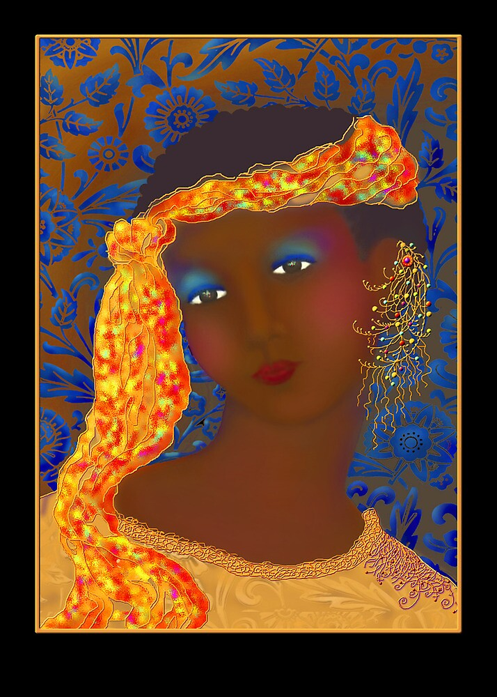 'Marie Laveau'  Voodoo Queen of New Orleans, Greeting Card or Small Print by luvapples downunder/ Norval Arbogast