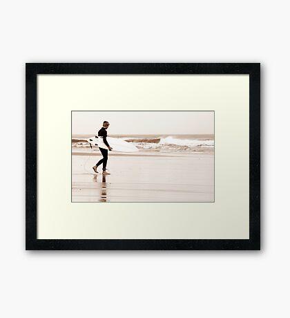 The Surfer Framed Print