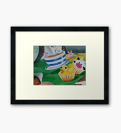 Its a Ducky Cupcake  Framed Print