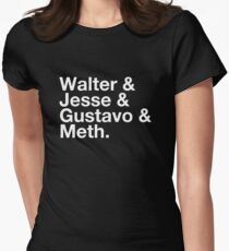 Walter & Jesse & Gustavo & Meth Women's Fitted T-Shirt