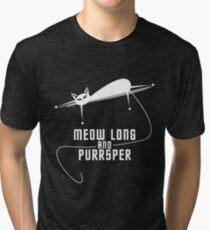 Spockat - Meow long and purrsper Tri-blend T-Shirt