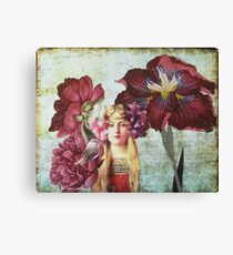 She Had A Ribbon In Her Hair Canvas Print