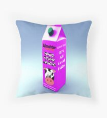 Cow Juice Throw Pillow