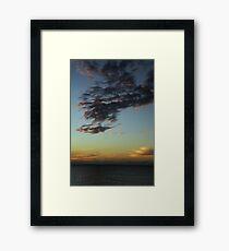 Sunset - December 10, 2011 Framed Print