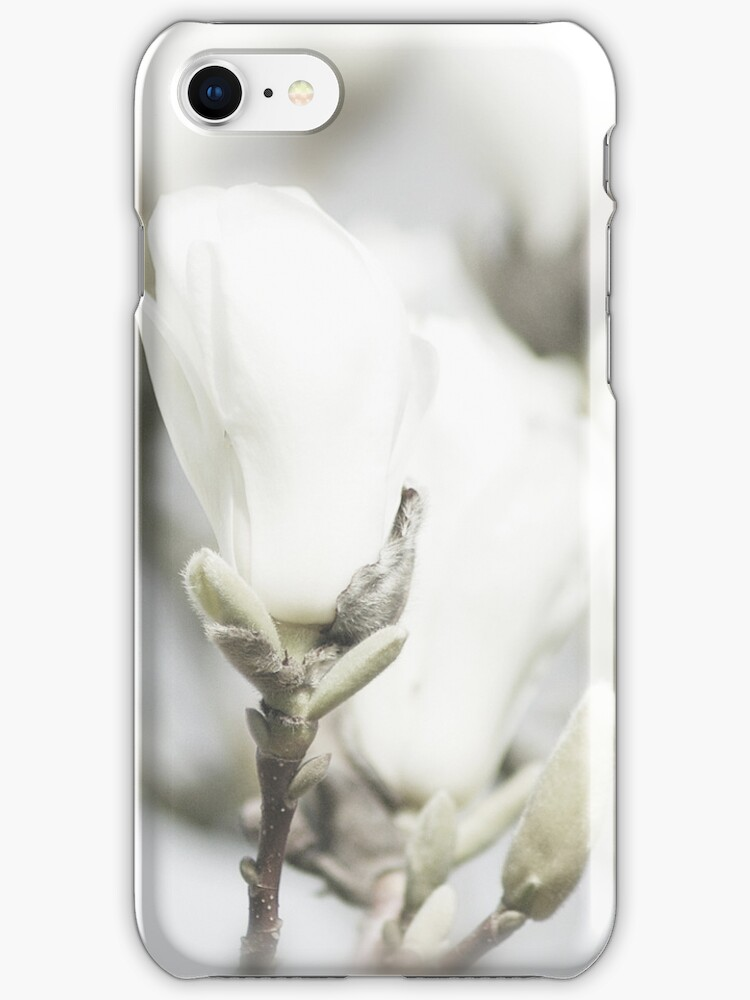Simply white - magnolia blossom Iphone & Ipod case by Magdalena Warmuz-Dent