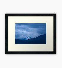 Hidden mountain Framed Print