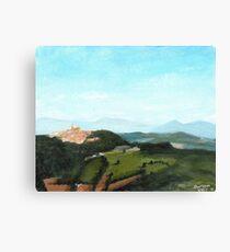 View of Todi from Montecastello Canvas Print