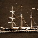 Leeuwin Sailing Ship Sepia by Eve Parry