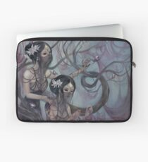 collecting silk from crystal spiders Laptop Sleeve