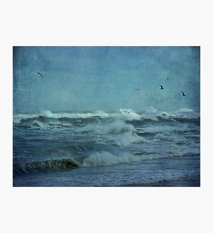 Wild Blue - High Surf - Outer Banks Photographic Print