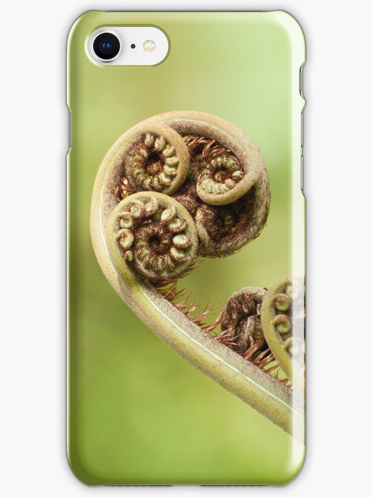 Spirals iphone cover by Jenny Dean