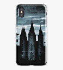 Salt Lake Temple, Dark Texture iPhone Case/Skin