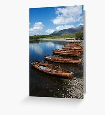 Derwent Water Boats Greeting Card