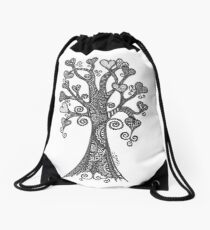 Love Leaves Drawstring Bag