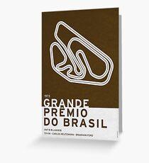 Legendary Races - 1973 Grande Premio do Brasil Greeting Card