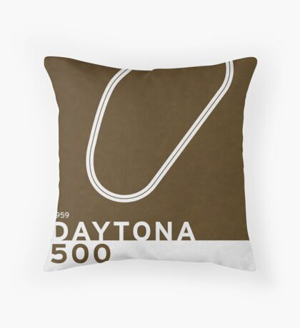Legendary Races - 1959 Daytona 500 Throw Pillow