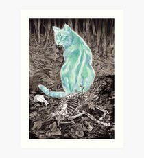 Ghost Cat Prowls Forever Art Print