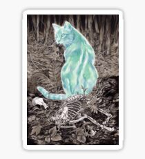 Ghost Cat Prowls Forever Sticker