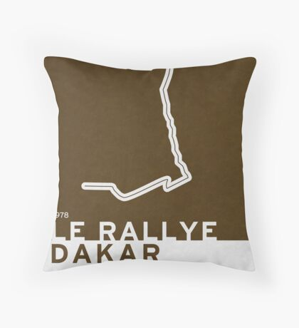 Legendary Races - 1978 Le rallye Dakar Throw Pillow