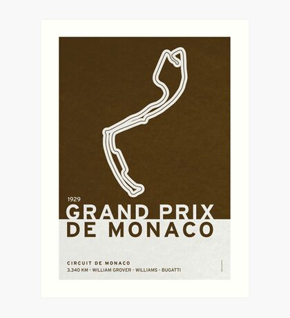 Legendary Races - 1929 Grand Prix de Monaco Art Print