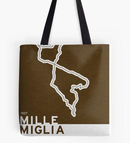 Legendary Races - 1927 Mille Miglia Tote Bag
