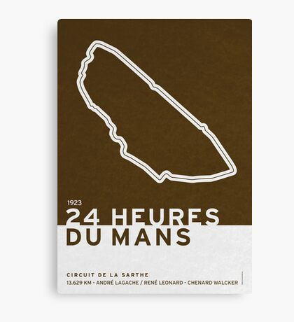 Legendary Races - 1923 24 Heures du Mans Canvas Print