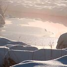 Sunrise on snow by Christine Ford