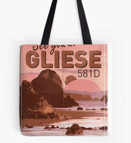 Exoplanet Travel Poster GLIESE 581 Tote Bag
