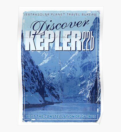 Exoplanet Travel Poster KEPLER 22b Poster