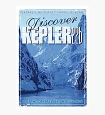 Exoplanet Travel Poster KEPLER 22b Photographic Print